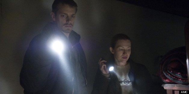 Stephen Holder (Joel Kinnaman) and Londen - The Killing _ Season 3, Episode 9 - Photo Credit: Carole Segal/AMC